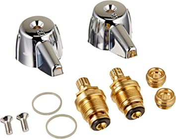 Danco 39674e 2 Handle Lavatory Faucet Trim Kit For Central Brass With Stems And Seats Chrome Plumbing Supplies Amazon Com