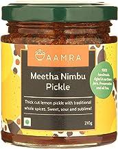 Aamra (Ghaziabad) Homemade Meetha Nimbu Lemon Indian Pickle - 210 grams