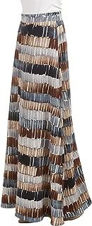 Women's Print/Solid High Waist Maxi Skirt-Made in U.S.A.