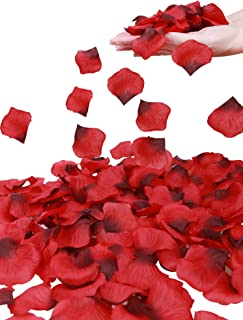 Simplicity 1000 Pcs Rose Petals Wedding,Anniversary,Party Decoration,Re/Dark Red