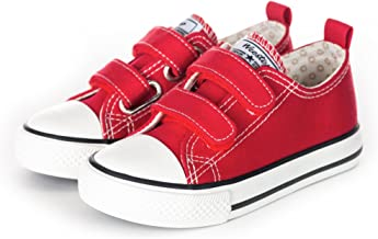 Weestep Toddler Little Kid Boy and Girl Classic Adjustable Strap Sneaker