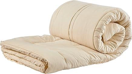 Sleep & Beyond 54 by 76-Inch Organic Merino Wool Mattress Topper,  Full,  Ivory