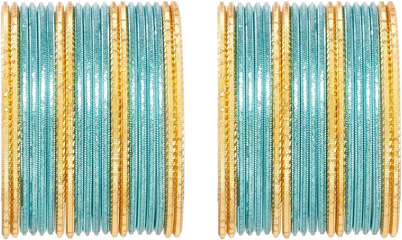 Ratna creation SANARA Indian Traditional Color Set of 40 Bangles for Women Wedding Wear Ethnic Bollywood Bangle Set Pair Jewellery