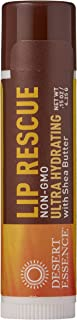 Desert Essence Lip Rescue Ultra Hydrating with Shea Butter - 0.15 Oz - Soft Moisturizer Balm Stick - Ginkgo Biloba Extract - Soothes Dry Or Cracked Lips - Vitamin E - Beeswax - Peppermint Oil