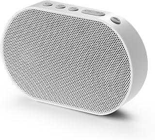GGMM ポータブル Bluetooth Wi-Fi ワイヤレス スピーカー Alexa音声認識 マイク搭載 AirPlay/DLNA対応 14時間連続再生 10W アウトドア ミニ ブルートゥース スピーカー E2 (Wi-Fi  Bluetooth, 白)