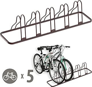 Simple Houseware 5 Bike Bicycle Floor Parking Adjustable Storage Stand