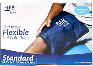 "FlexiKold Gel Ice Pack (Standard Large: 10.5"" x 14.5"") - Reusable Cold Pack Compress (Therapy for Pain and Injuries of Knee, Shoulder, Foot, Back, Ankle, Neck, Hip, Elbow, Wrist) - 6300-COLD"