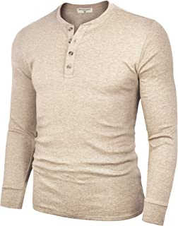 Sponsored Ad - Derminpro Men's Henley Cotton Casual Short/Long Sleeve Lightweight Button T-Shirts