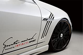 2 - Sports Mind Powered By Infiniti Sport Decal Sticker Black/red