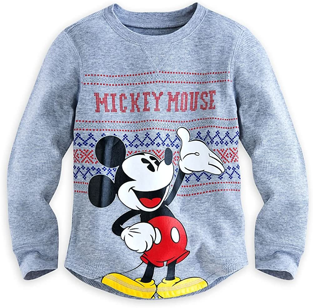 Disney Store Mickey Mouse Little Boy Long Sleeve Thermal Shirt Size 4