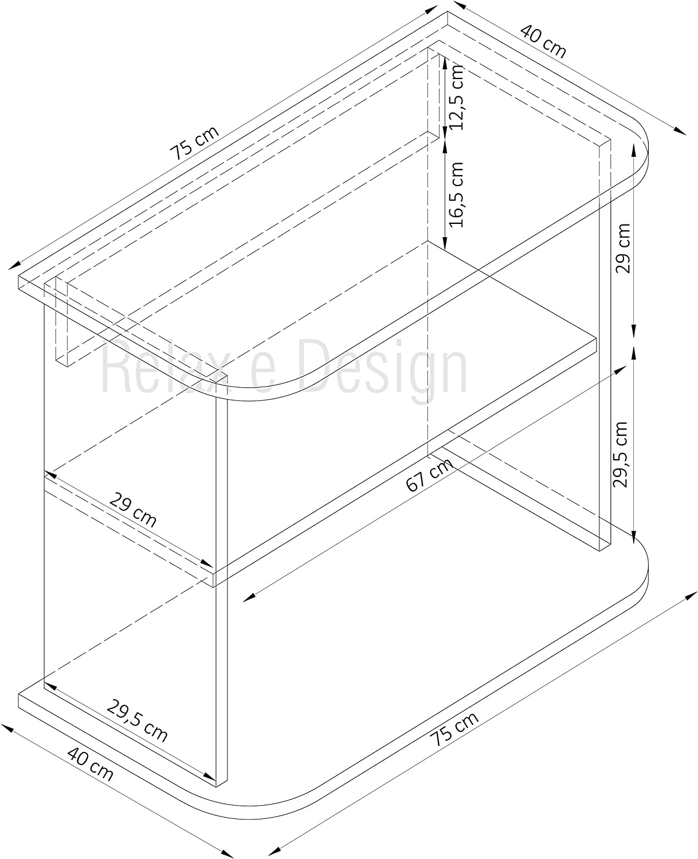 longitud 44 cm altura 90 cm y otros colores impresora Hi-Fi Relax y Design Carro para TV color negro profundidad 34 cm