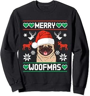 Merry Woofmas Christmas Xmas Santa Claus Pug  Sweatshirt