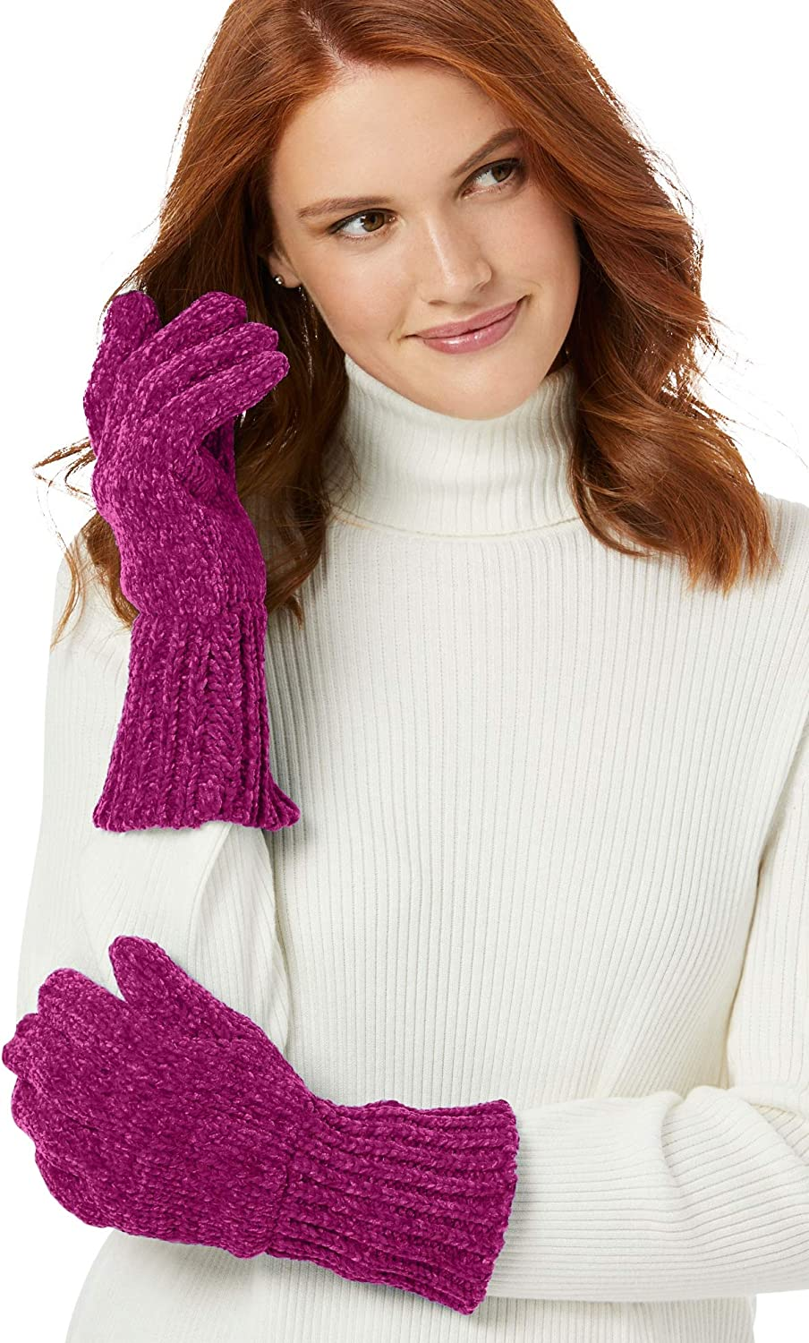 Woman Within Women's Plus Size Chenille Gloves