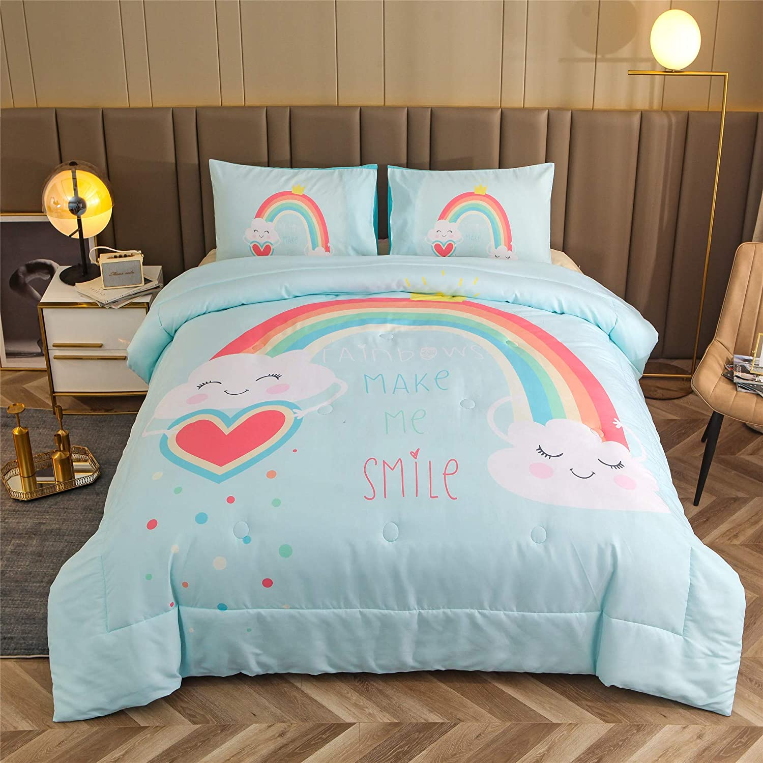 A Nice Night Ultra OFFicial store Soft Chirstmas Comforter Fixed price for sale Bl Cartoon Set Kid's