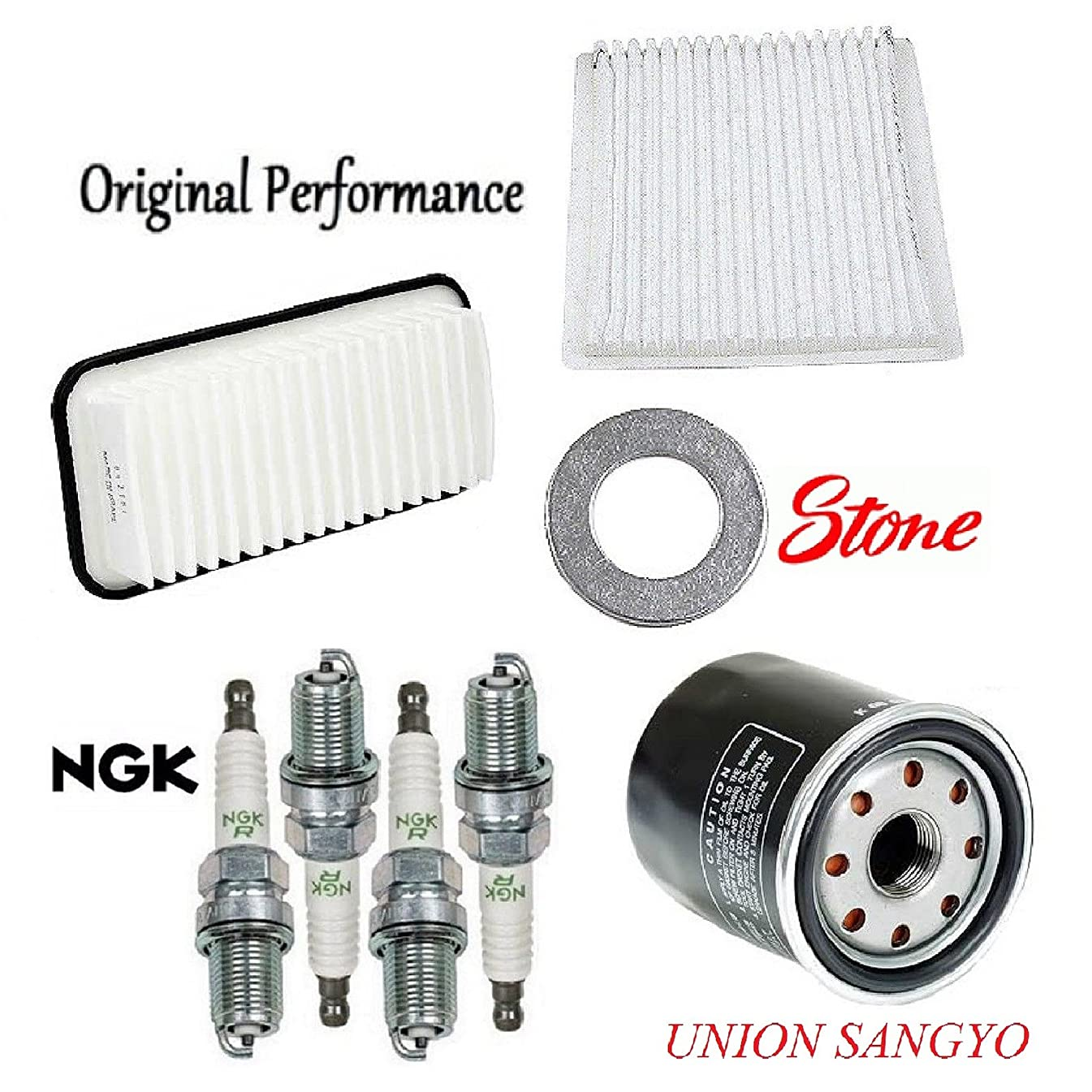 Tune Up Kit Cabin Air Oil Filters Plugs Gasket for Toyota Echo 2000-2005