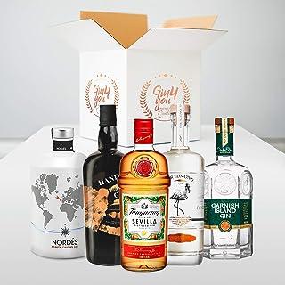 Gin Tasting Set Montag | 5 exklusive Gins mit 5 passenden Tonics empfohlen vom Experten für zu Hause