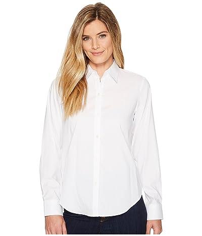 LAUREN Ralph Lauren Cotton Poplin Shirt (White) Women