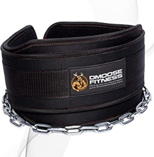DMoose Fitness Neoprene Dip Belt for Weight lifting, Pullups, Powerlifting, and Bodybuilding Workouts, Weight Dip Belt Wit...