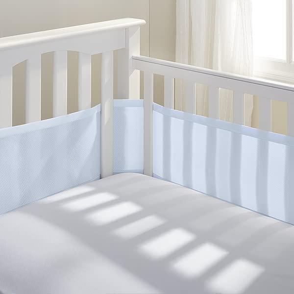 BreathableBaby 经典透气网婴儿床内胆浅蓝色