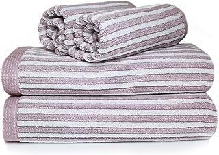 2 asciugamani da doccia 2 tappetini da bagno 100/% cotone grigio taupe Carenesse Set di Asciugamani da 8 qualit/à premium assorbenti e resistenti design a nido dape e bordo scatola 4 asciugamani