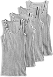Women's Tops Ribbed Tank 4-Pack