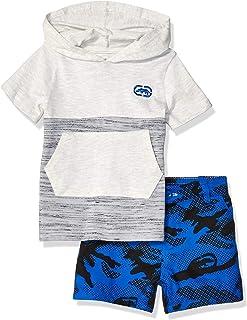 Marc Ecko Baby-Boys P178KA Short Sleeve Hooded T-Shirt and Camo Short Set Shorts Set