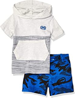 Marc Ecko Baby-Boys P178KA Short Sleeve Hooded T-Shirt and Camo Short Set Shorts Set