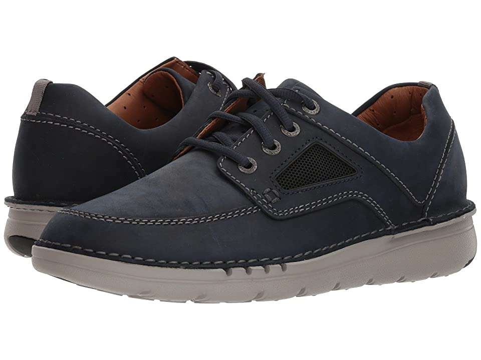 Clarks UnNature Time (Navy Leather) Men