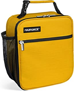 MAZFORCE Original Lunch Bag Insulated Lunch Box - Tough & Spacious Adult Lunchbox to Seize Your Day (Yellow - Lunch Bags Designed in California for Men, Adults, Women)