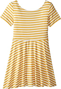 Skater Stripe Dress (Big Kids)