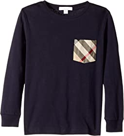 Long Sleeve Tee w/ Check Pocket (Little Kids/Big Kids)