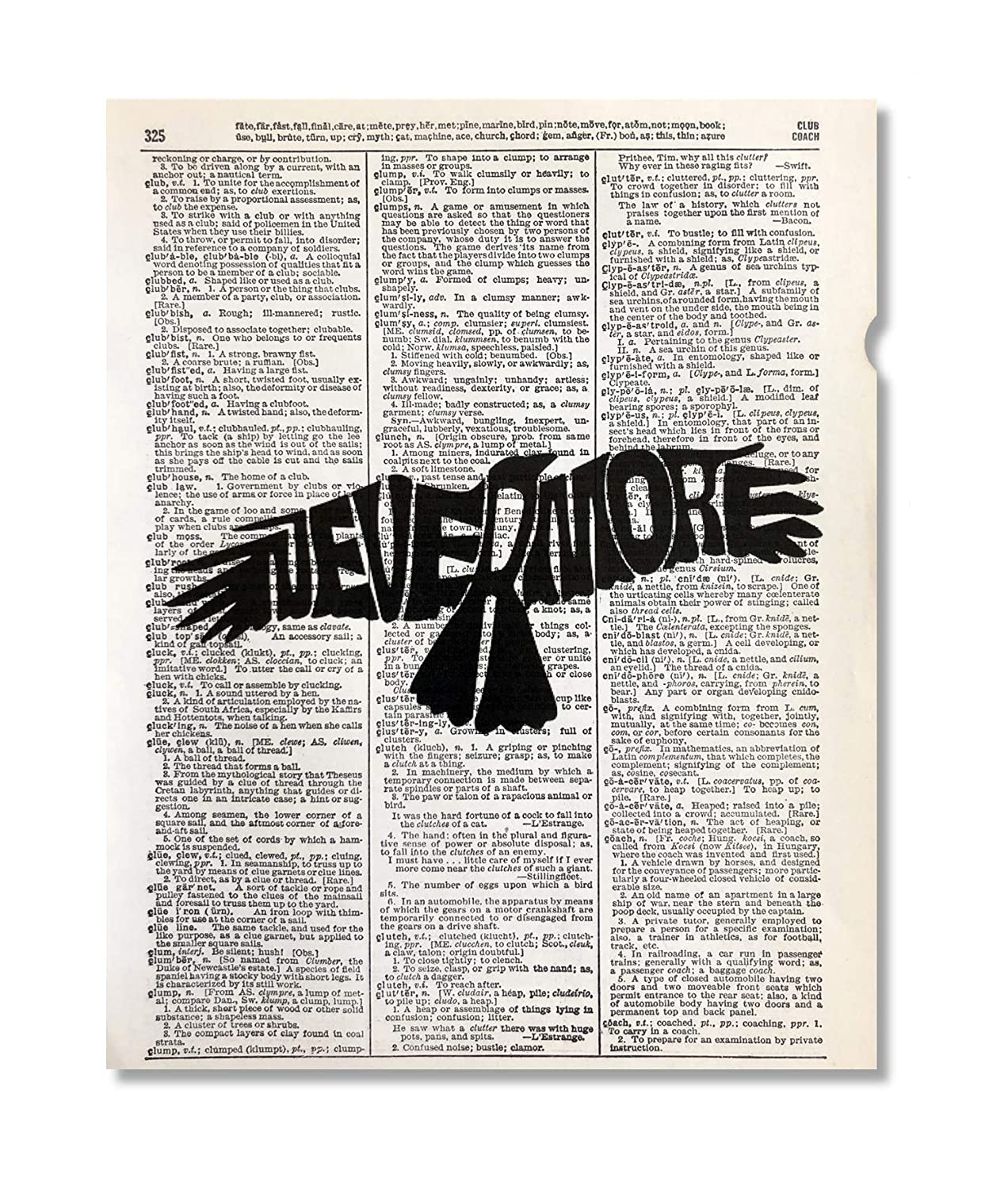 Nevermore Sale Special Price Edgar Alan Poe Upcycled 8 Art Dictionary Vintage Print Spring new work one after another