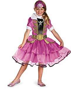 Disguise Saban Super MegaForce Power Rangers Pink Ranger Tutu Prestige Girls Costume, Small/4-6x
