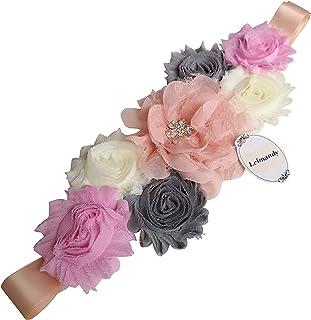Faja de maternidad, de Lemandy, con flores, hecho a mano, de verano, de satén, accesorios para bodas