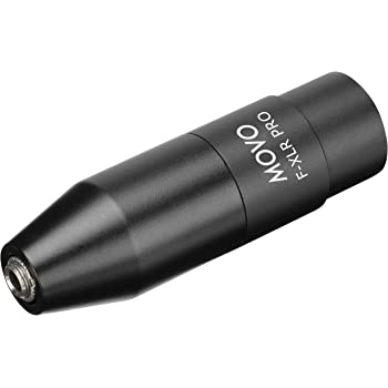 Movo FXLR-PRO 3.5mm (TRS) Mini-Jack Female Microphone Adapter to 3-pin XLR Male Connector with Integrated Phantom Power Converter