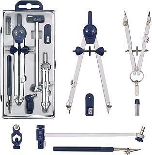 Compassi per tracciare,compasso trumenti per disegno della materiale scolastico bussola in acciaio inox per la geometria b...