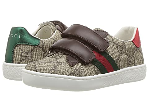 e8ab23aa534 Gucci Kids New Ace V.L. Sneakers (Toddler) at Luxury.Zappos.com