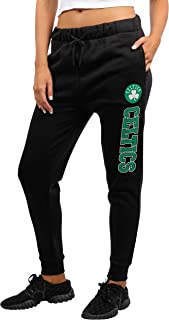 UNK NBA Women's Jogger Pants Active Basic Fleece Sweatpants, Black/Navy