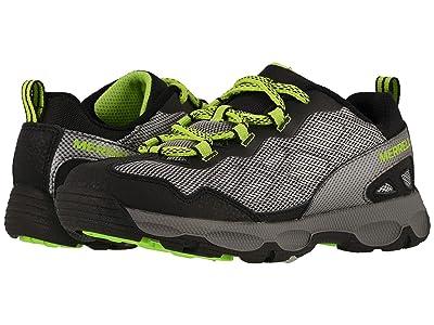Merrell Kids Chameleon Low 2.0 (Little Kid/Big Kid) (Grey/Lime) Boys Shoes