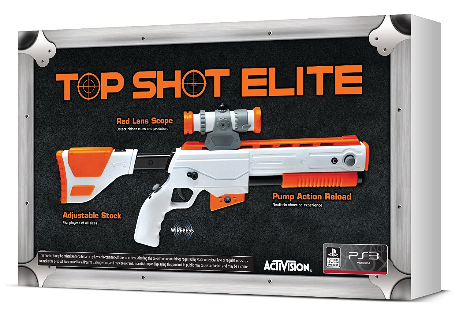 Amazon Com Cabela S Top Shot Elite Firearm Controller Xbox 360 Video Games