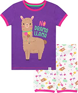 Girls' Llama Short Pajamas