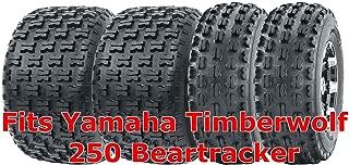 22x7-10 & 22x10-10 Full Set Yamaha Timberwolf 250 Beartracker Sport ATV Tires