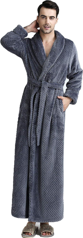 BIFINI Men/Women Ultra Soft Plush Flannel Fleece Shawl Collar Bathrobe