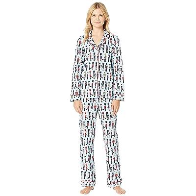 BedHead Pajamas Long Sleeve Classic Notch Collar Pajama Set (March On) Women