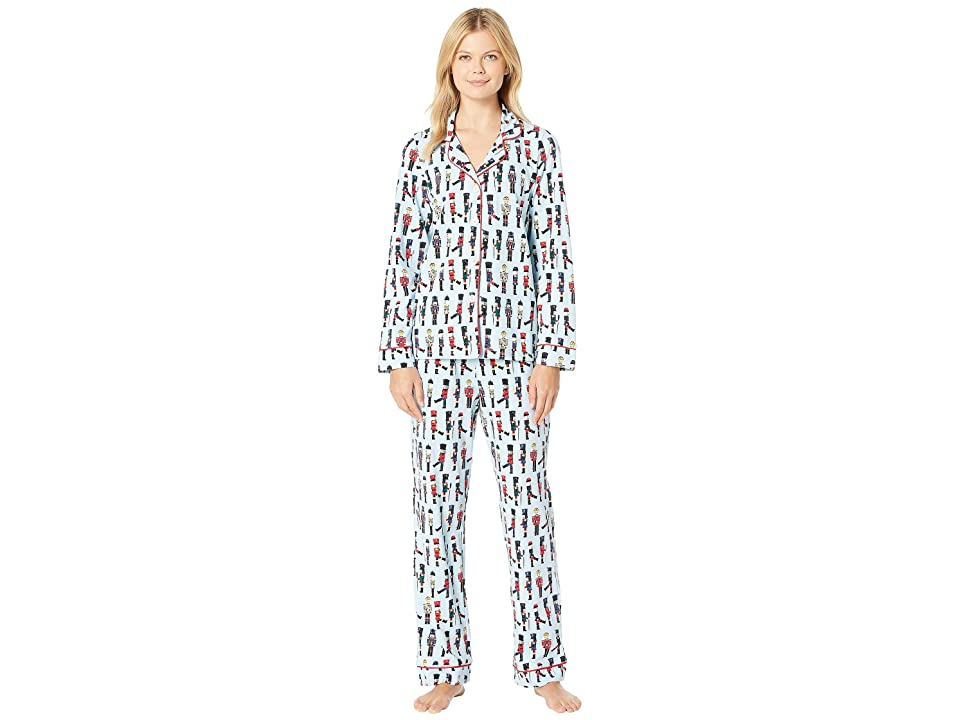 BedHead Long Sleeve Classic Notch Collar Pajama Set (March On) Women