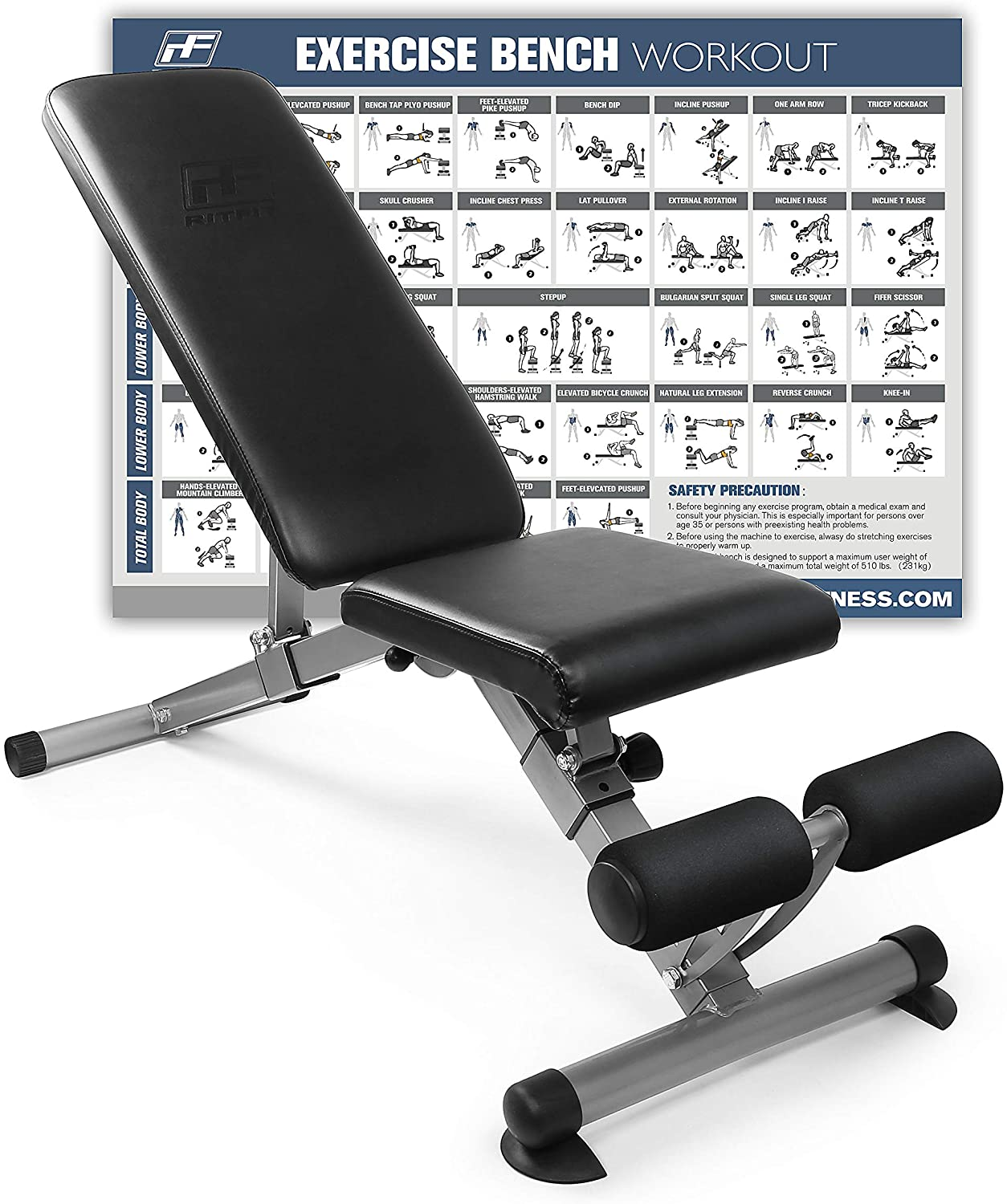Best portable weight-bench: RitFit Adjustable/Foldable Utility Bench