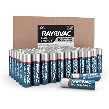 Rayovac AA Batteries, Alkaline Double A Batteries (72 Battery Count), AA 72 Count (815-72BX)