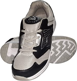 Enco Running Sports Shoes Miami 1.0 Light Weight Joggers SIL/BLK/WHT