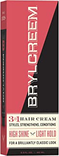 Brylcreem 3 in 1 Shining, Styling, and Conditioning Hair Cream for Men, Alcohol-Free, 5.5 Ounce