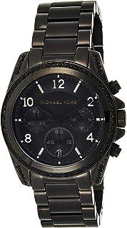 Michael Kors Women's Black Dial Stainless Steel Chronograph Watch - MK5686